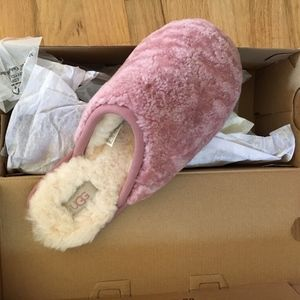 UGG Pearly Curly Cue Slippers in Pink Dusk - 8 -
